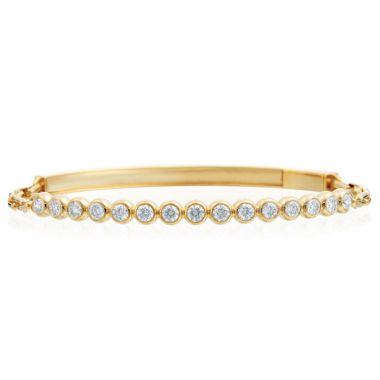 Gumuchian Moonlight 18k Yellow Gold Stiletto Diamond Bracelet