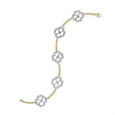 Gumuchian G. Boutique 18k Two Tone Gold Diamond Kelly Bracelet