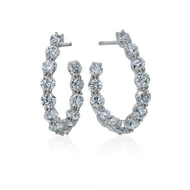 Gumuchian New Moon 18k White Gold Diamond Earrings
