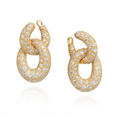 Gumuchian Diamond Pave Gold Link Drop Earrings