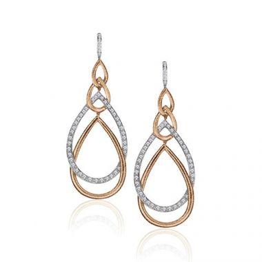 Gumuchian Peacock 18k Two Tone Gold Diamond Drop Earrings
