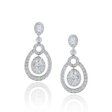 Gumuchian Carousel Convertible 18k White Gold Diamond EaRing