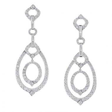 Gumuchian Gallop Equestrian 18k White Gold Chic Drop Earrings
