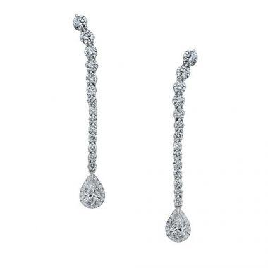 Gumuchian Cascade Riviera Platinum Diamond Pear Drop Earrings