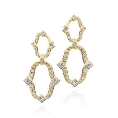 Gumuchian Secret Garden Linking Motif Diamond Drop Earrings
