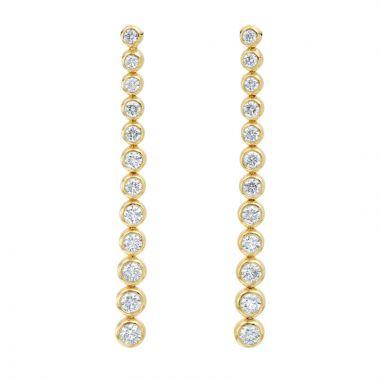 Gumuchian Moonlight 18k Gold Stiletto Diamond Earrings