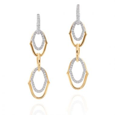 Gumuchian Secret Garden 18k Two Tone Gold Diamond Convertible Earrings