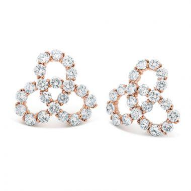 Gumuchian Twirl 18k Rose Gold Diamond Earrings