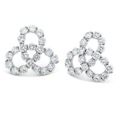 Gumuchian Twirl 18k White Gold Diamond Earrings