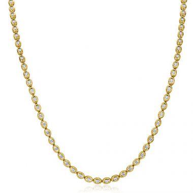Gumuchian Oasis 18k Yellow Gold Illusion Diamond Necklace