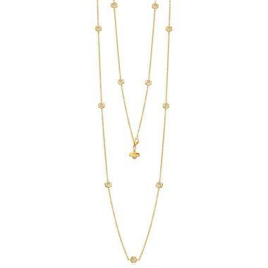 """Gumuchian Honeybee """"B"""" 18k Gold Multi Motif Necklace"""