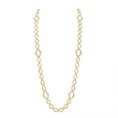 Gumuchian Secret Garden Motif 18k Yellow Gold Convertible Diamond Necklace