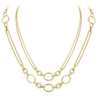 Gumuchian Carousel Convertible Two Tone 18k Gold Diamond Necklace
