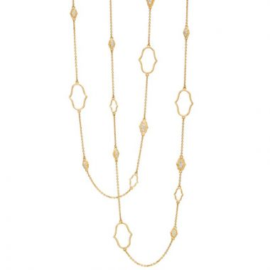 Gumuchian Secret Garden 18k Yellow Gold Delicate Motif & Chain Necklace