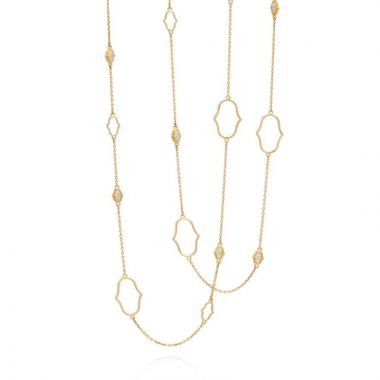 Gumuchian Secret Garden Delicate Motif 18k Yellow Gold Chain Necklace