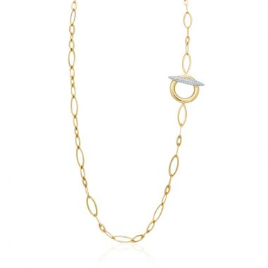Gumuchian Anitia G 18k Two Tone Gold Toggle Necklace