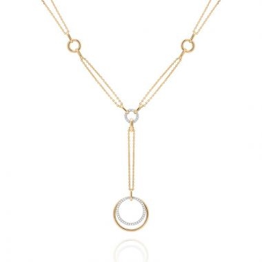 Gumuchian Moon Phase 18k Two Tone Gold Diamond Convertible Necklace