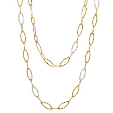 Gumuchian Anita G 18k Two Tone Gold Diamond Necklace