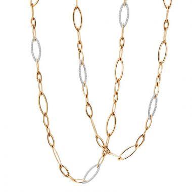 Gumuchian Anita G 18k Two Tone Gold Diamond Necklace