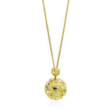 Gumuchian Stich by Stich 18k Two Tone Gold Diamond Pendulum Sliding Pendant