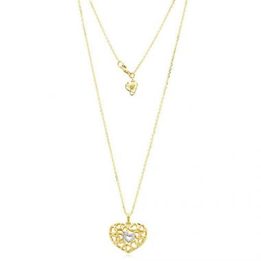 Gumuchian 18k Yellow Gold Diamond Tiny Hearts Heart Motif Pendant