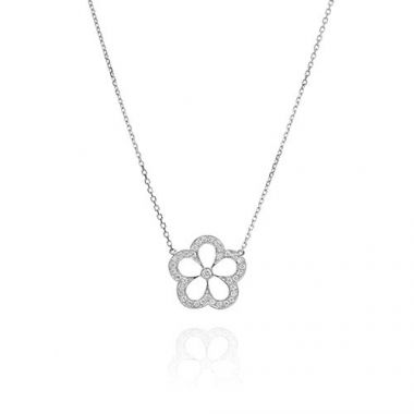 Gumuchian G. Boutique 18k White Gold Diamond Daisy Necklace