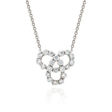 Gumuchian Twirl 18k White Gold Diamond Pendant