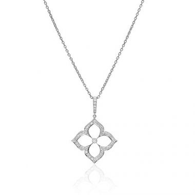Gumuchian G. Boutique 18k White Gold Diamond Lotus Necklace