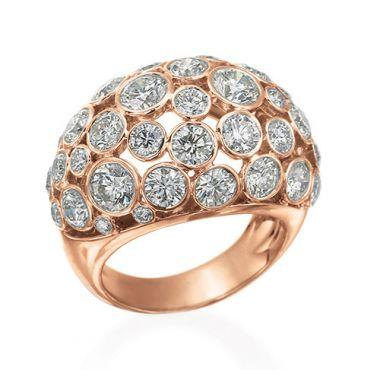Gumuchian Cloud Nine 18k Pink Gold & Diamond Ring