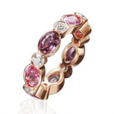 Gumuchian Marbella 18k White Gold Diamond Sapphire Stackable Ring