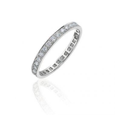 Gumuchian Bridal Platinum Cinderella Diamond Eternity Wedding Band