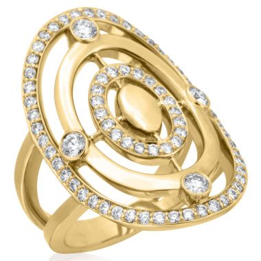 Gumuchian Carousel 18k Gold Diamond Illusion Halo Ring