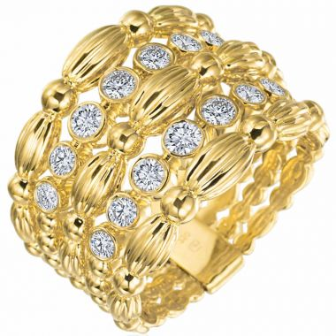 Gumuchian Nutmeg 18k Gold Small Five Row Ring