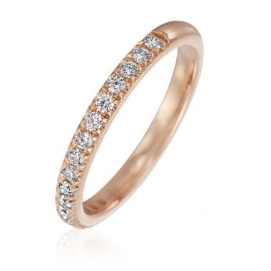 Gumuchian Bridal 18k Rose Gold Cinderella Diamond Anniversary Wedding Band