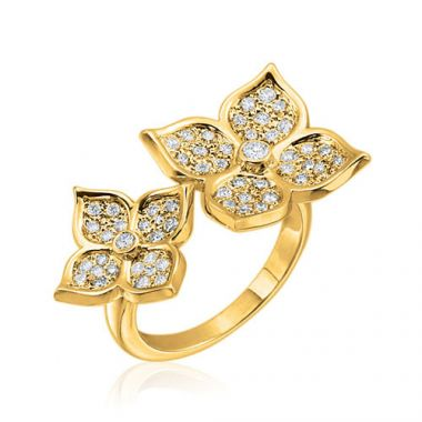 Gumuchian G. Boutique 18k Yellow Gold Diamond Lotus Ring