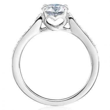 Gumuchian 18k White Gold Diamond Tiny Hearts Motif Platinum Semi-Mount