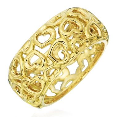 Gumuchian 18k Gold Hearts Motif Statement Ring