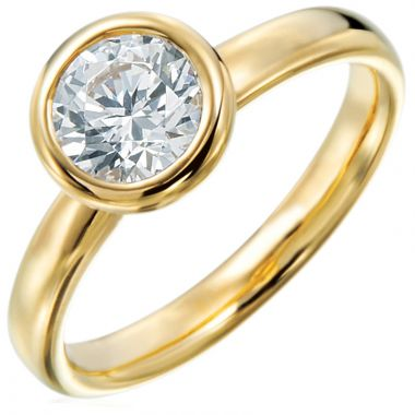 Gumuchian Moonlight 18k Gold Round Solitaire Semi-Mount