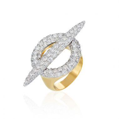 Gumuchian Anitia G 18k Two Tone Gold Toggle Diamond Ring